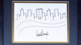 川普畫紐約(圖翻攝自Nate D. Sanders拍賣網站)