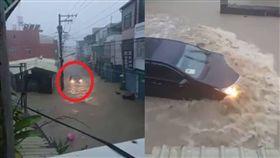 TOYOTA ALTIS涉水、TOYOTA ALTIS、TOYOTA開過淹水區/台灣新聞記者聯盟訊資訊平台臉書