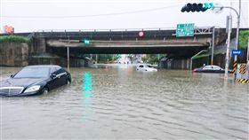 海棠,颱風,淹水,台南 圖/中央社