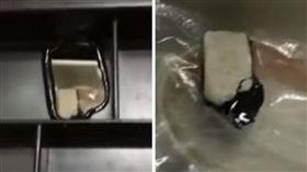 橡皮擦,塑膠板,腐蝕,熔化,材質,TPR,聚苯乙烯,PS,化學反應 (圖/翻攝自爆料公社)