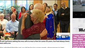 澳洲,姊弟戀,結婚,禮堂,男友,情侶,甜蜜,老伴,親友,婚禮 http://www.dailymail.co.uk/news/article-4738188/Karl-Lisa-left-speechless-93-year-old-bride-s-joke.html
