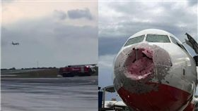 飛機,意外,冰雹,降落,烏克蘭,空中巴士,玻璃,機長,Alexander Akopov 圖/翻攝自臉書