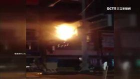 台中,紅綠燈,起火,火花,黑煙,火警