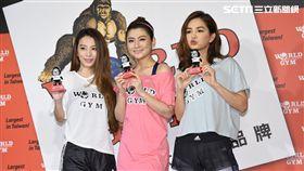 S.H.E合體出席世界健身俱樂部愛心公益活動