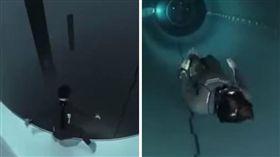 泳池,潛水,缺氧,往生,深潛,水池,水壓,窒息,Guillaume Néry (圖/翻攝自YouTube)