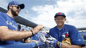 川崎宗則在藍鳥擁有高人氣。(圖/美聯社/達志影像)