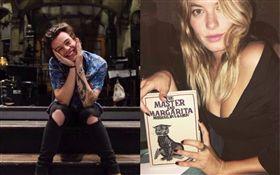 哈利(Harry Styles)、維秘超模卡蜜兒羅威(Camille Rowe)。(合成圖/翻攝自哈利臉書、卡蜜兒羅威Instagram)