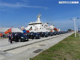 海巡署北部地區巡防局今早舉行誓師大會,強化執檢機制。(圖/翻攝畫面)