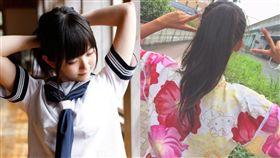 日本,中學,馬尾,和服(推特)