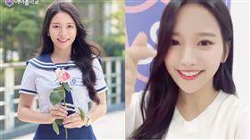 蔡瑞雪(合成圖/翻攝自Mnet 아이돌학교(Idol School) X M2臉書)