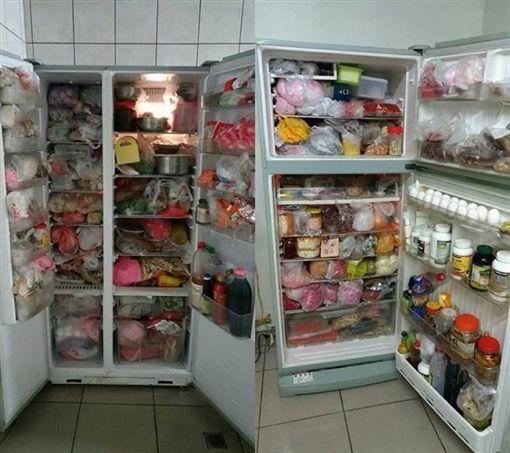 冰箱,囤物,過期,電費,塞東西,冷凍,冷藏(圖/翻攝自PTT)
