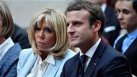 Emmanuel Macron,Brigitte Macron,馬克宏,法國,總統,第一夫人 圖/路透社/達志影像