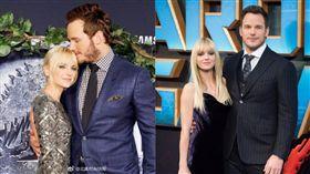 克里斯普雷特(Chris Pratt),安娜法芮斯(Anna Faris)(合成圖/翻攝自北美時尚快報微博)