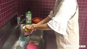 洗碗示意圖