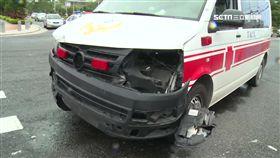 禍不單行! 救護車趕送病患 路口撞轎車(苗栗,傷患,十字路口,救護車,打滑,音樂)