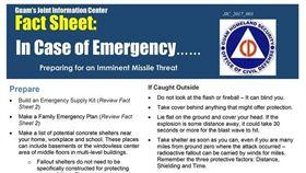 關島官方提醒民眾為導彈做準備。(圖/翻攝自關島國土安全部臉書)