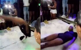 女舞者疑似脖子被折斷死亡。(合成圖/翻攝自YouTube)