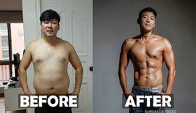 南韓大叔鄺修(Hugh Gwon)減重22kg變腹肌男。(圖/翻攝自mykoreanhusband IG)