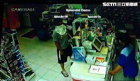 許男對店員大喊「我只要錢,別逼我傷害你!」(圖/翻攝畫面)