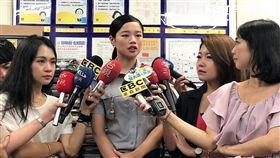 警大實習生陳韋如,原本是凱渥模特兒,以及台科大高材生,卻跟隨父親腳步,報考警大成為警官(楊忠翰攝)