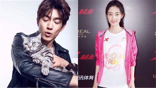 林更新和王麗坤/微博