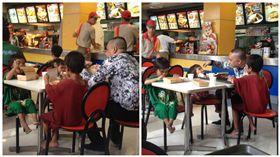 菲律賓,男童,孩童,行乞,速食店(圖/翻攝自Patrisha Capillan臉書)