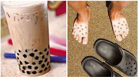 夏天,日光浴,色差,海邊,洞洞鞋,珍珠奶茶/爆廢公社