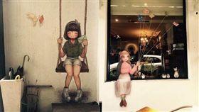 網友幫彩繪壁畫 咖啡店開價3000元/dcard