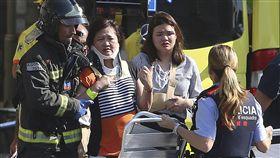 西班牙巴塞隆納恐怖攻擊、蘭布拉大道(Las Ramblas)恐攻/(圖/美聯社/達志影像)