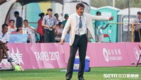 0818 女子足球中華隊VS阿根廷,總教練柳樂雅幸 圖/記者林敬旻攝