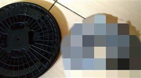 烘衣機,清洗,棉絮,灰色,綠豆椪 圖/翻攝自臉書爆廢公社