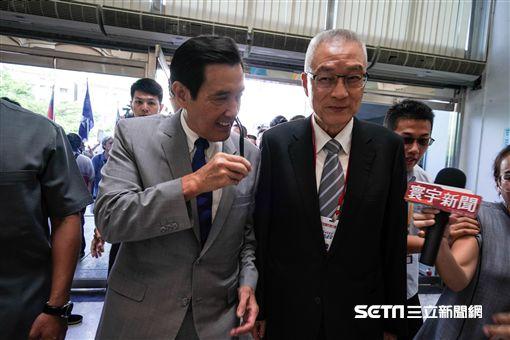 國民黨全代會,前總統馬英九、國民黨主席吳敦義出席。 圖/記者林敬旻攝