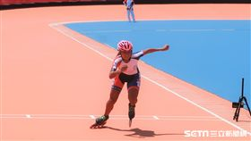 台灣女子滑輪溜冰選手李孟竹。(圖/記者王怡翔攝)