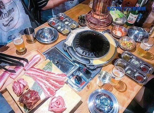 板橋韓式烤肉店,口味道地,老闆娘D奶長腿細腰更是火辣。