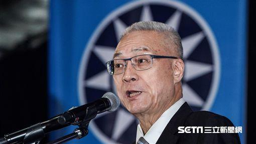 國民黨全代會,主席吳敦義宣讀黨訓。 圖/記者林敬旻攝