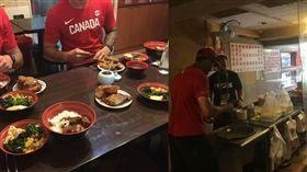 世大運加拿大隊選手去吃爌肉飯排骨飯/IG