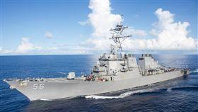 美軍艦馬侃號曾不甩陸艦警告美軍驅逐艦馬侃號在新加坡東部海域與商船相撞,就在10天前,馬侃號曾駛入爭議水域。(取自美國海軍官網)中央社記者曹宇帆洛杉磯傳真  106年8月21日