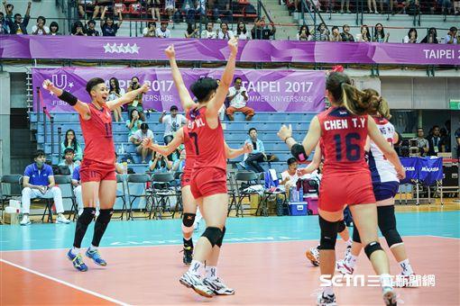 0822世大運女子排球中華隊、捷克 圖/記者林敬旻攝