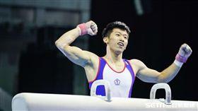 0823 世大運男子體操單項鞍馬,李智凱 圖/記者林敬旻攝