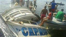 巴西帕拉州西南部辛古河流域發生沈船意外。(圖/翻攝自DailyStar)