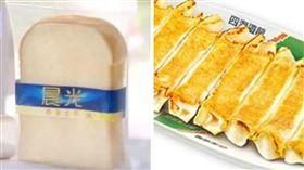 荷包,超商,統一麵包,晨光吐司,瑞穗牛奶土司,四海遊龍,鍋貼,人事成本,原物料(合成圖)