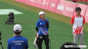 ▲台灣射箭選手譚雅婷在女單決賽失利。(圖/記者蕭保祥攝)