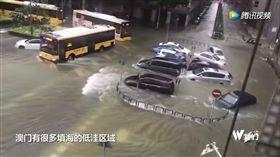 澳門,颱風,天鴿 圖/翻攝自騰訊視頻
