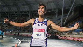 ▲楊俊瀚在台北世大運獲得男子100公尺金牌。(圖/世大運組委會提供)