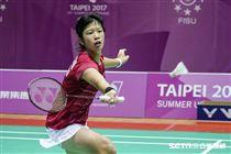 0825世大運羽球團體賽,日本柏原美紀 圖/記者林敬旻攝