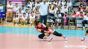 世大運女排台灣對日本。(圖/記者林敬旻攝)