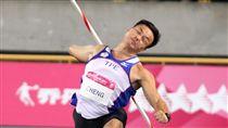 ▲鄭兆村標槍91公尺36破亞洲紀錄,獲得台北世大運金牌。(圖/記者邱榮吉攝)