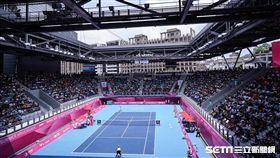台北網球中心。(圖/記者林敬旻攝)