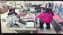 搶槍,搶匪,女店員