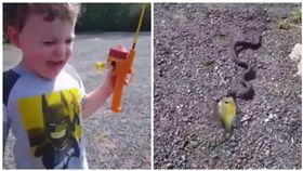 澳洲,男童,釣魚,蛇(圖/翻攝自Instant Regret臉書)
